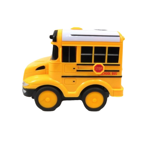 School Bus with Steering Wheel Remote Control, Lights and Sound