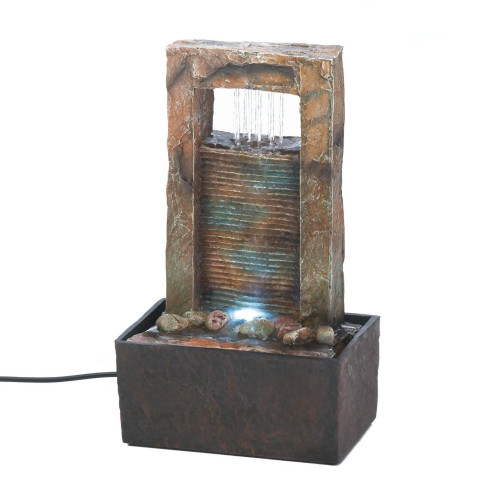 Cascading Tabletop Fountain with LED Light