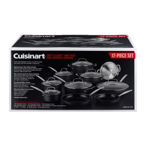 Cuisinart Chef's Classic Non-Stick Hard Anodized 17 Piece Cookware Set