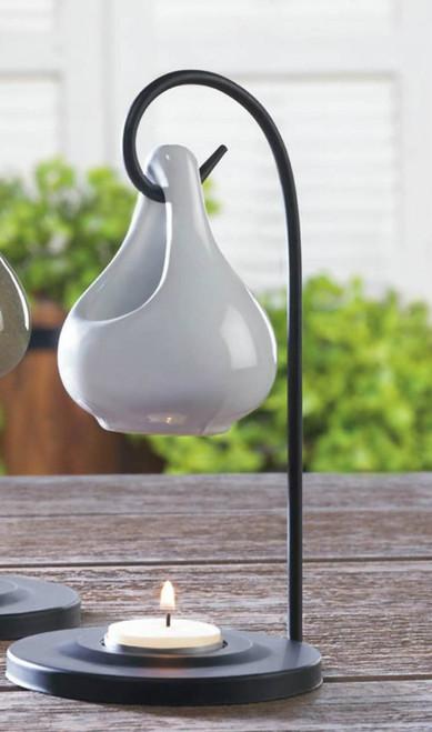 White Ceramic Tear Drop Oil Warmer