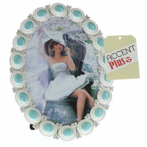 Pewter and Sea Cabochon 5 x 7 Picture Frame