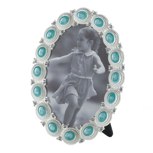 Pewter and Sea Cabochon 4 x 6 Picture Frame