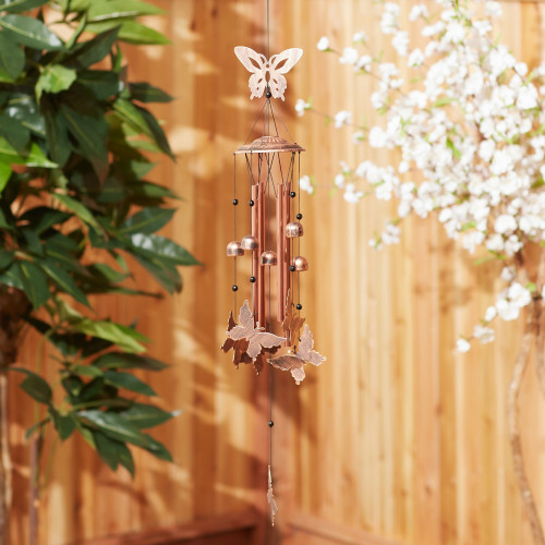 Fluttering Butterflies and Bells Wind Chime