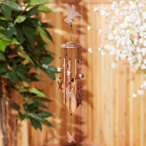 Fluttering Hummingbirds and Bells Wind Chime