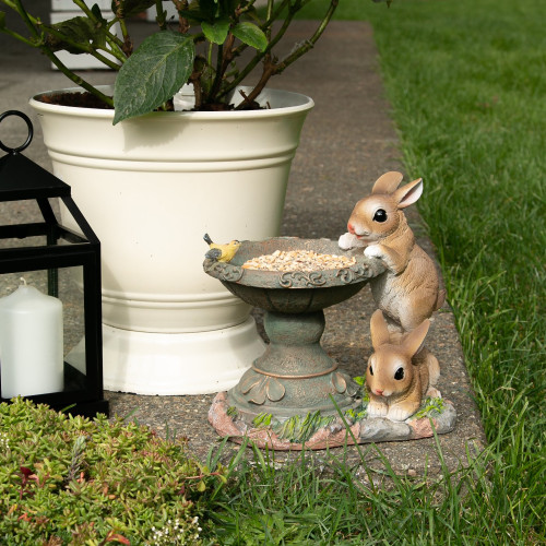 Playful Bunnies Birdfeeder