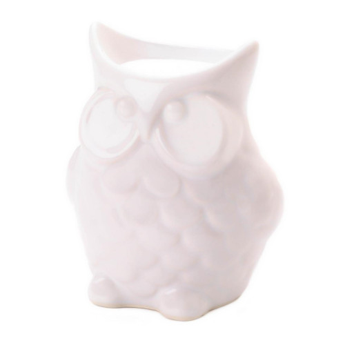 Friendly White Owl Porcelain Tealight Candle Oil Warmer