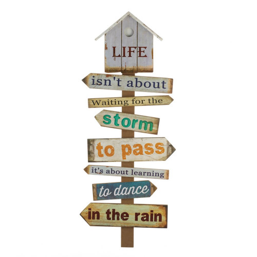 Daily Dose Inspirational Wood Wall Hanging