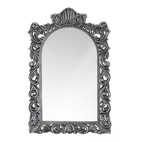 Grand Silver Wood Wall Mirror