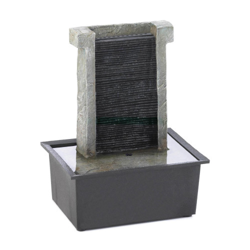Stone Wall Tabletop Water Fountain with LED Light