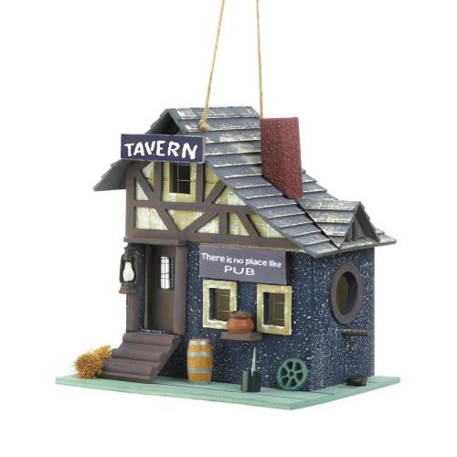 Tavern Pub Eucalyptus Wood Birdhouse
