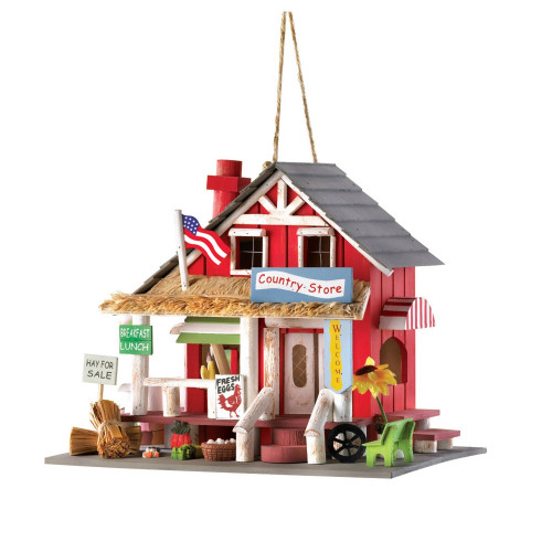 Old Time Country Store Wood Bird House