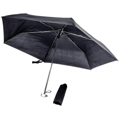 """All-Weather Black 40"""" Mini Umbrella"""