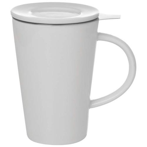 White Porcelain Tea Steeping 13.5 ounce Mug