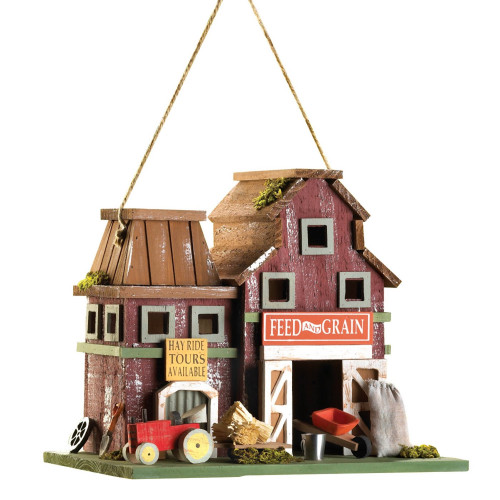 Farmstead Rustic Wood Bird House