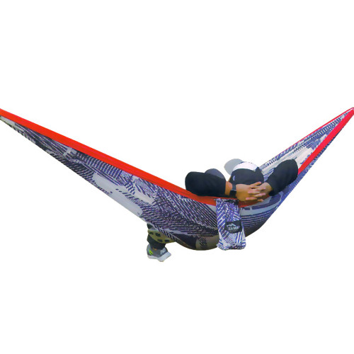 Red White and Navy Two Person Travel Hammock