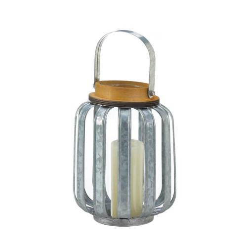 Small Galvanized Metal Candle Lantern