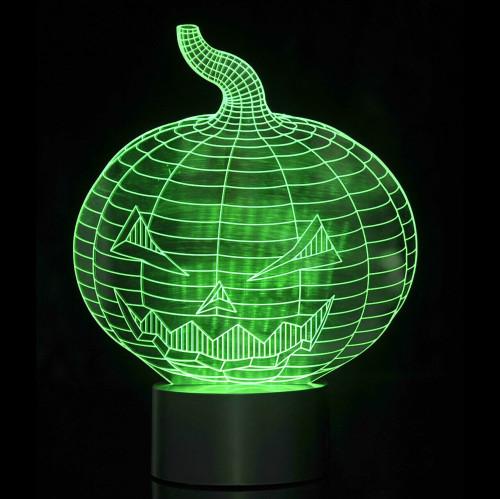 3D Pumpkin Laser Cut LED Lamp with Color Changing Mode