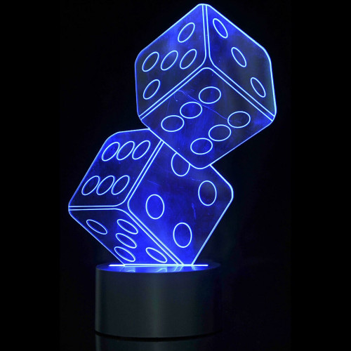3D Dice Laser Cut LED Lamp with Color Changing Mode