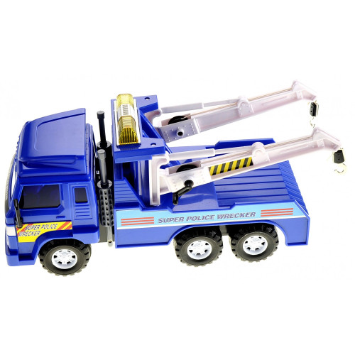 Heavy Duty Police Tow Truck with Friction Power Age 3+