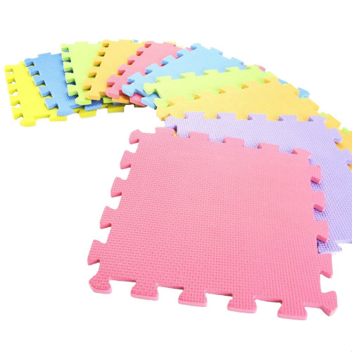 Colorful 10 Piece Interlocking Foam Puzzle Mat Age 3+