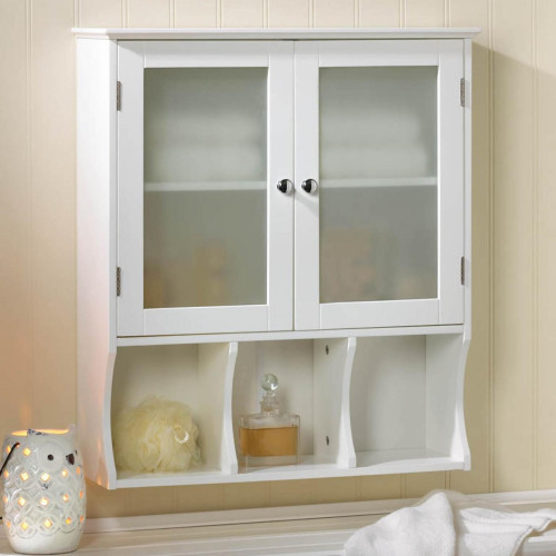 Aspen White Wood Wall Storage Cabinet