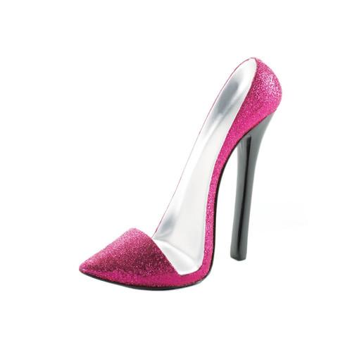 Sparkly Pink Stiletto Heel Shoe Phone Holder