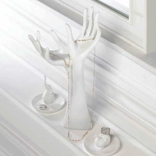 Helping Hands White Jewelry Holder