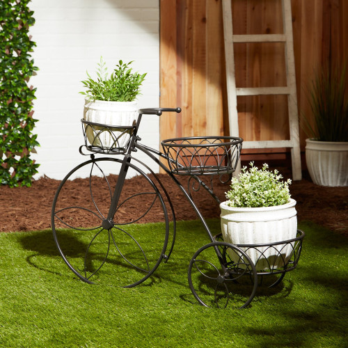 Tricycle Three Tier Iron Plant Stand