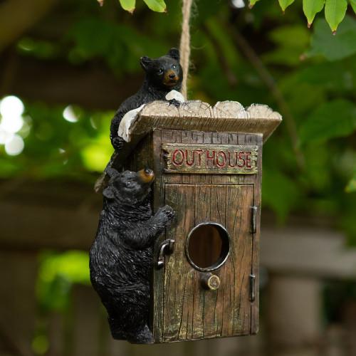 Black Bears Outhouse Birdhouse