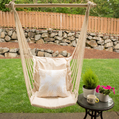 Swing Chair with Cotton Padded Seat