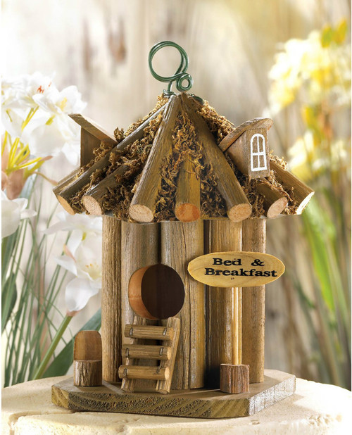 Bed And Breakfast Wood Bird House