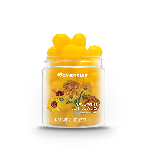 A cup of Vase with Sunflowers candy