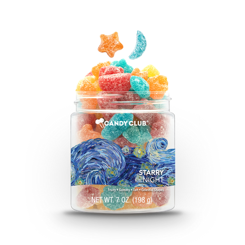 A cup of Starry Night candy