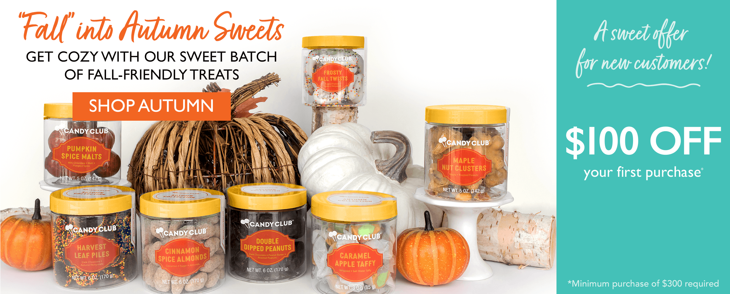 'Fall' into autumn sweets. Get cozy with our sweet batch of fall-friendly treats. Shop Autumn