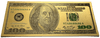 $100 Franklin Colorized Gold Foil Polymer Replica Banknote Series 1976