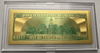 $100 Franklin Colorized Gold Foil Polymer Replica Banknote Series 1976 In Currency Slab