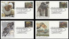 5410 - 5413 / 55c Tyrannosaurus Rex : T-Rex Set of 4 Fleetwood 2019 First Day Covers
