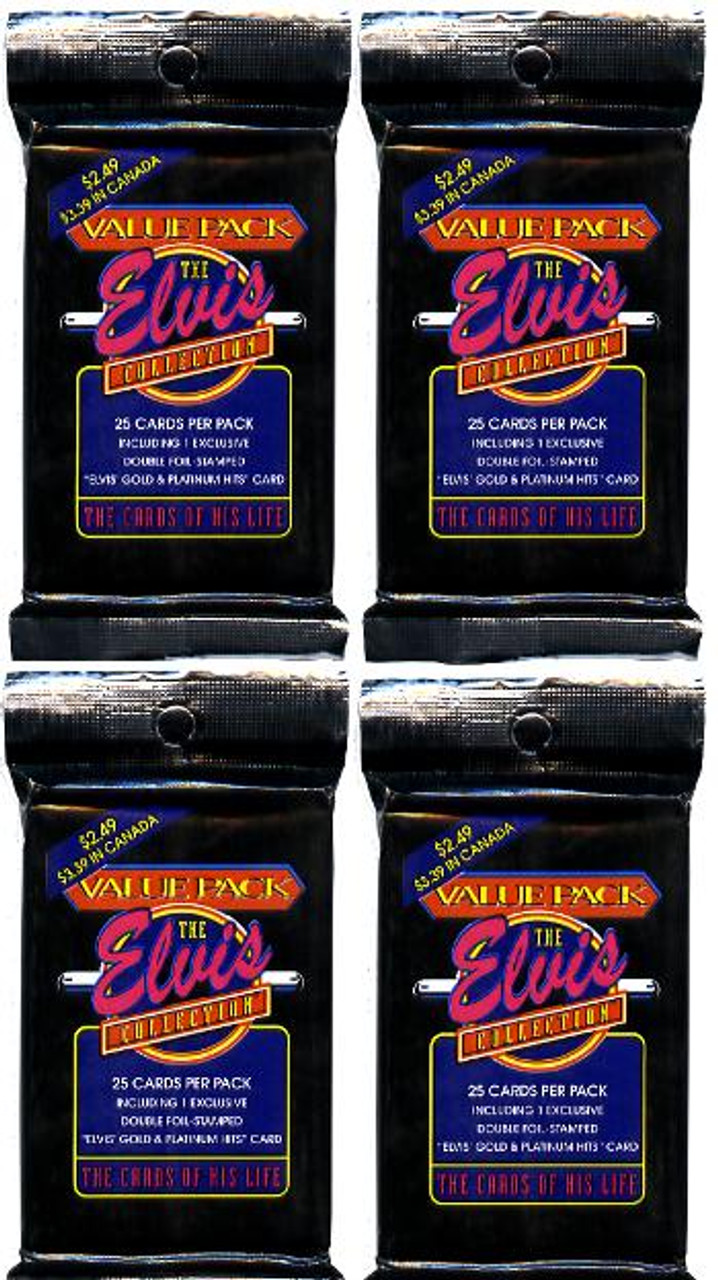 4 Jumbo Value Packs Of The Elvis Collection Trading Cards First
