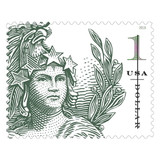 $1 Statue Of Freedom Stamp