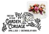 Garden Corsage Pictorial Postmark