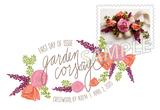 Garden Corsage Digital Color Postmark