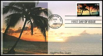 C143 / 90c Hagatna Bay , Guam Airmail Stamp 2007 Fleetwood FDC