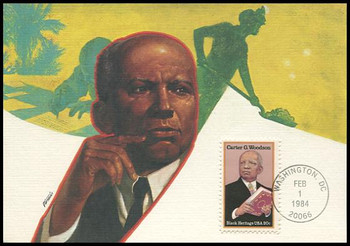 2073 / 20c Carter G. Woodson : Black Heritage Series 1984 Fleetwood Maximum Card
