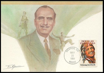 2088 / 20c Douglas Fairbanks 1984 Fleetwood Maximum Card