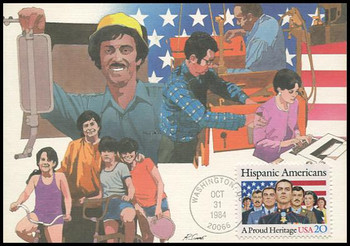 2103 / 20c Hispanic Americans 1984 Fleetwood Maximum Card