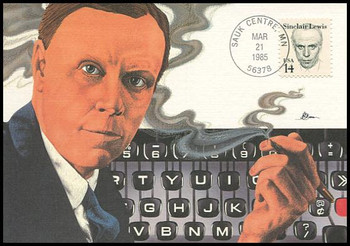 1856 / 14c Sinclair Lewis : Great Americans Series 1985 Fleetwood Maximum Card