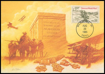 2154 / 22c World War I Veterans 1985 Fleetwood Maximum Card