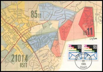 2150 / 21.1c Sealed Envelopes Coil Pair 1985 Fleetwood Maximum Card