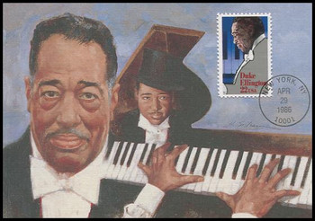 2211 / 22c Duke Ellington : Performing Arts Series 1986 Fleetwood First Day of Issue Maximum Card