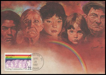 2275 / 22c United Way 100th Anniversary 1987 Fleetwood First Day of Issue Maximum Card